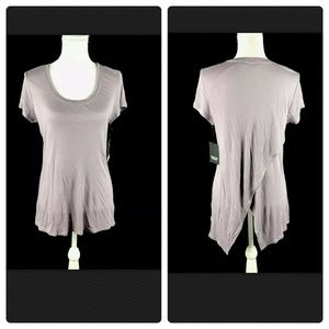 Simply Vera  S Blouse Top Asymmetric Short Sleeve